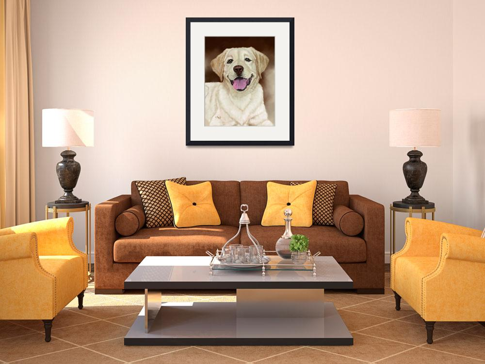 """Walker the Blond Lab&quot  by Tim"