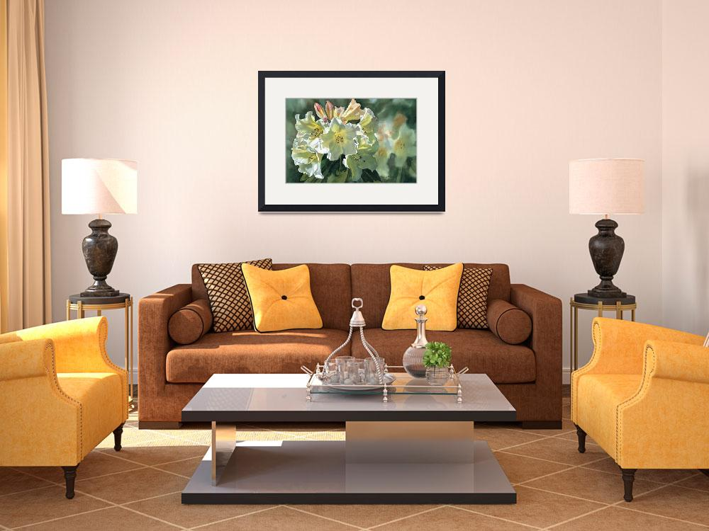 """""""Yellow Rhododendron&quot  (2005) by Pacific-NW-Watercolors"""