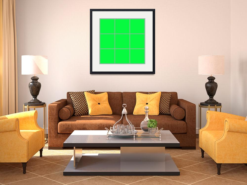 """""""Green Window 010 Canvas Contemporary Modern&quot  (2010) by Ricardos"""