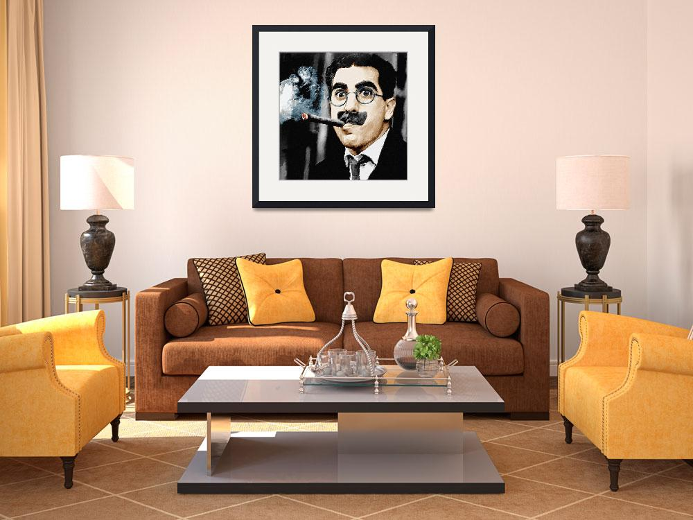 """Groucho Marx Square&quot  by RubinoFineArt"