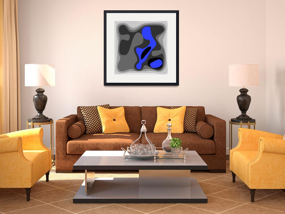 """""""Abstract birth 1 blue ©&quot  (2012) by MontariolArtGallery"""