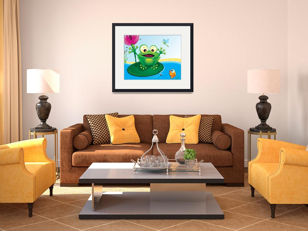 """""""critterz-frog-pond&quot  (2008) by edgeplus"""