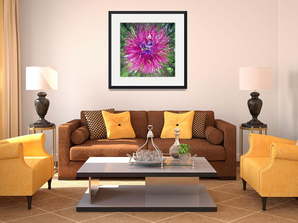 """""""1437 Fuchsia Bloom&quot  (2012) by susanmartell"""