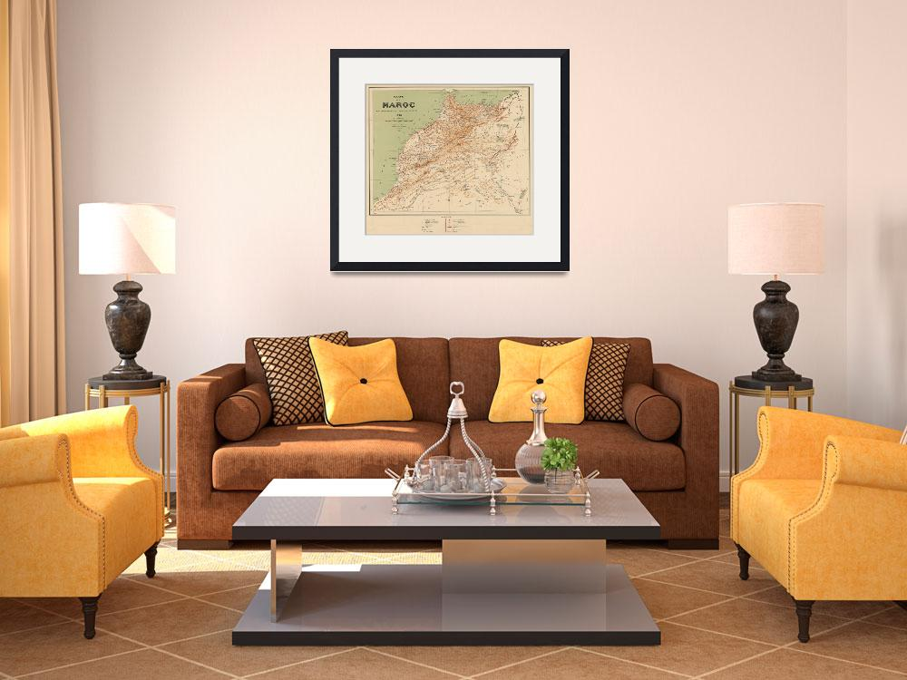 """Vintage Map of Morocco (1912)""  by Alleycatshirts"