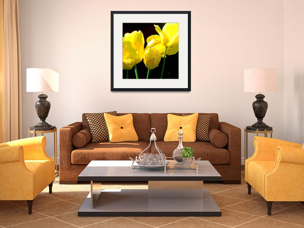 """YELLOW TULIPS II""  (2014) by HerbDickinson"