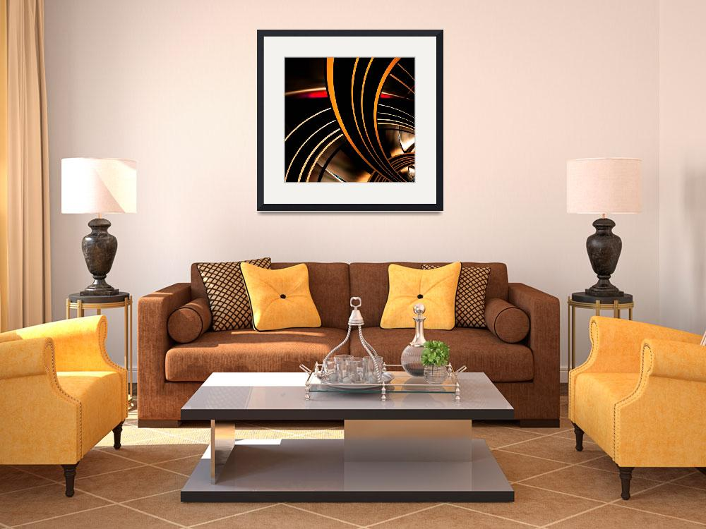 """""""Abstract Art Gold Space 2&quot  (2009) by shanmaree"""