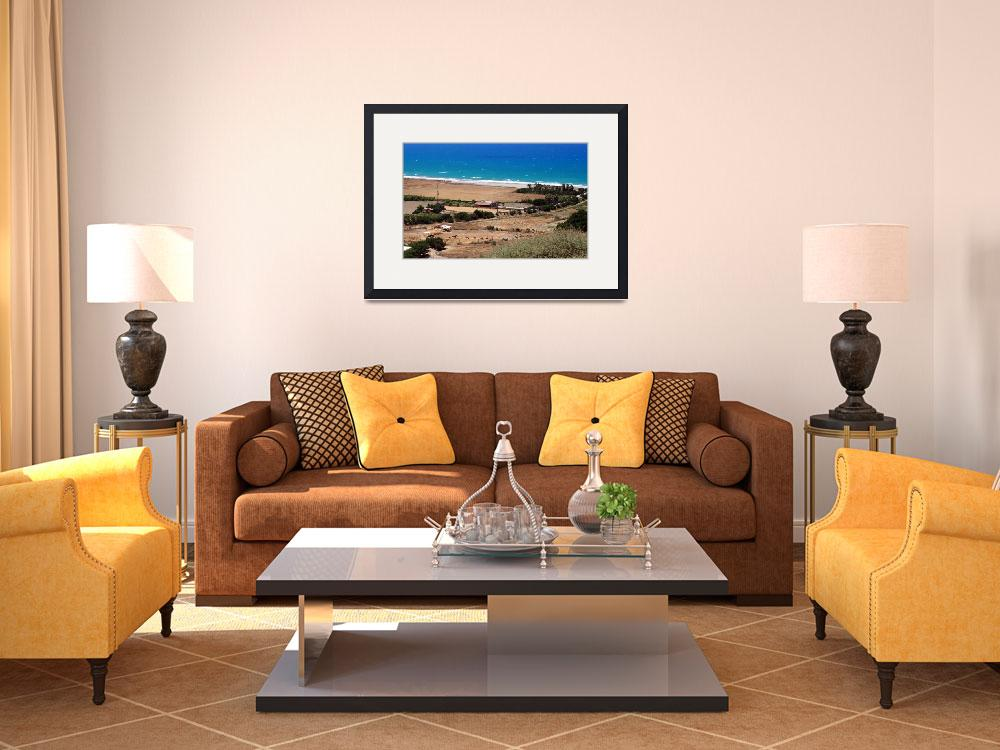 """""""Cyprian Coastline, With Horses""""  by Artsart"""