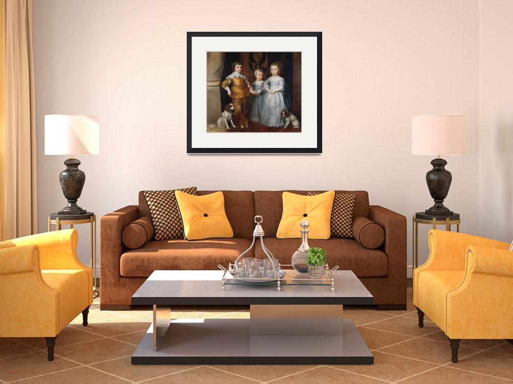 """""""The three eldest children of Charles I&quot  by fineartmasters"""