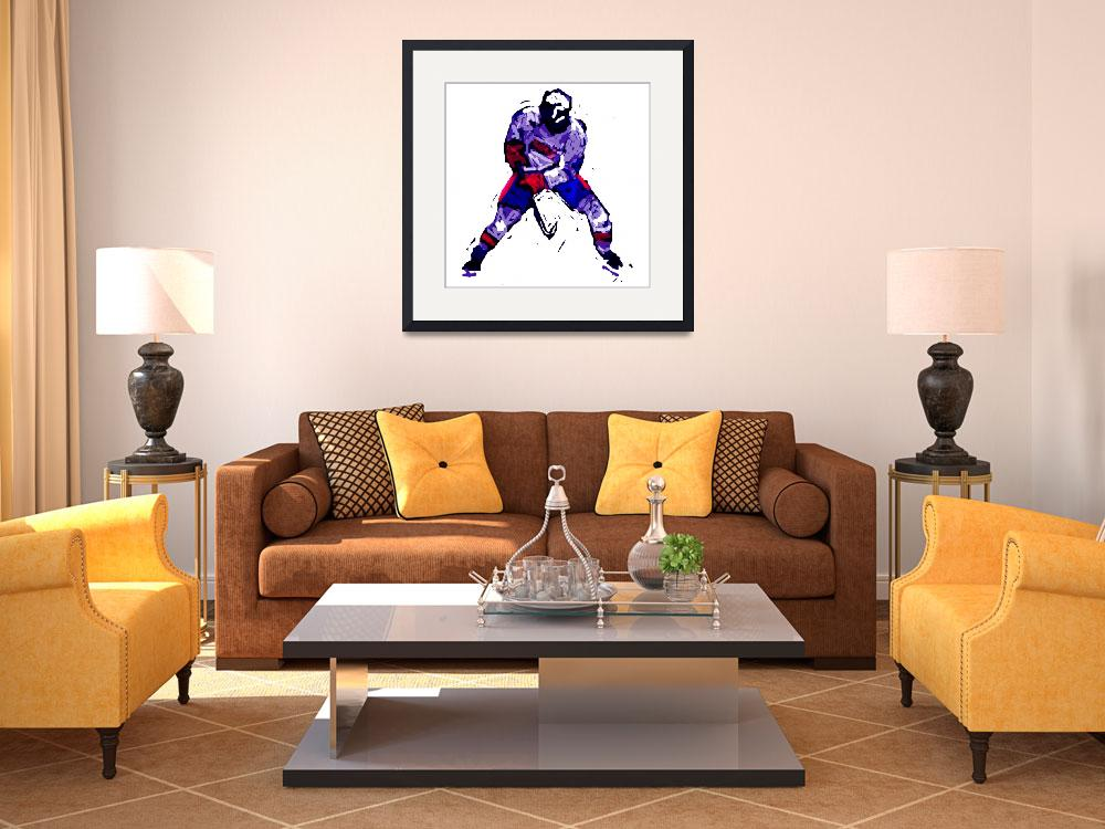 """""""Hockey Defenseman red white blue (c)&quot  (2014) by edmarion"""