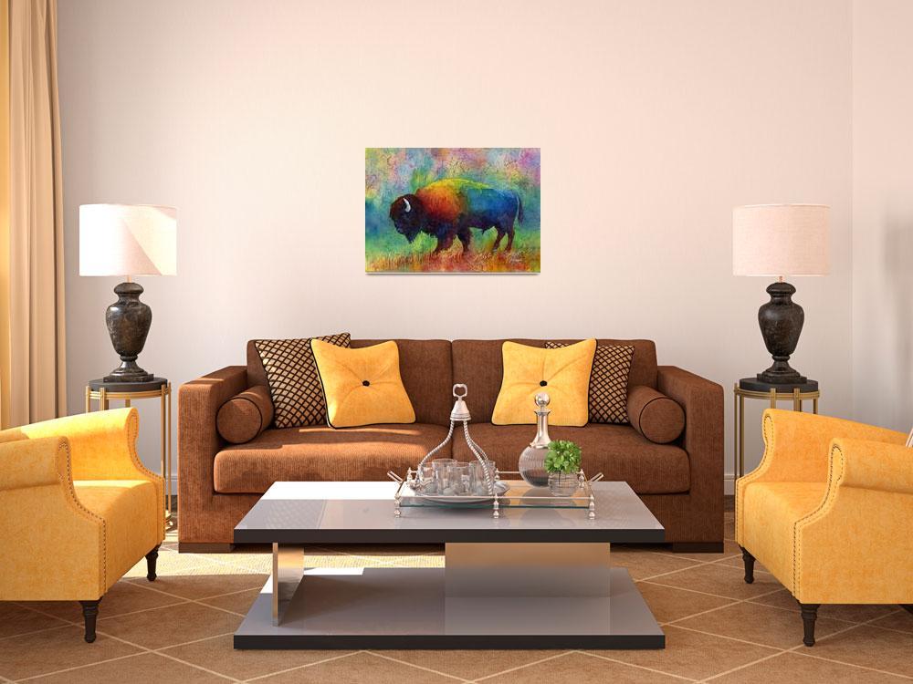 """American Buffalo 6""  (2014) by HaileyWatermedia"
