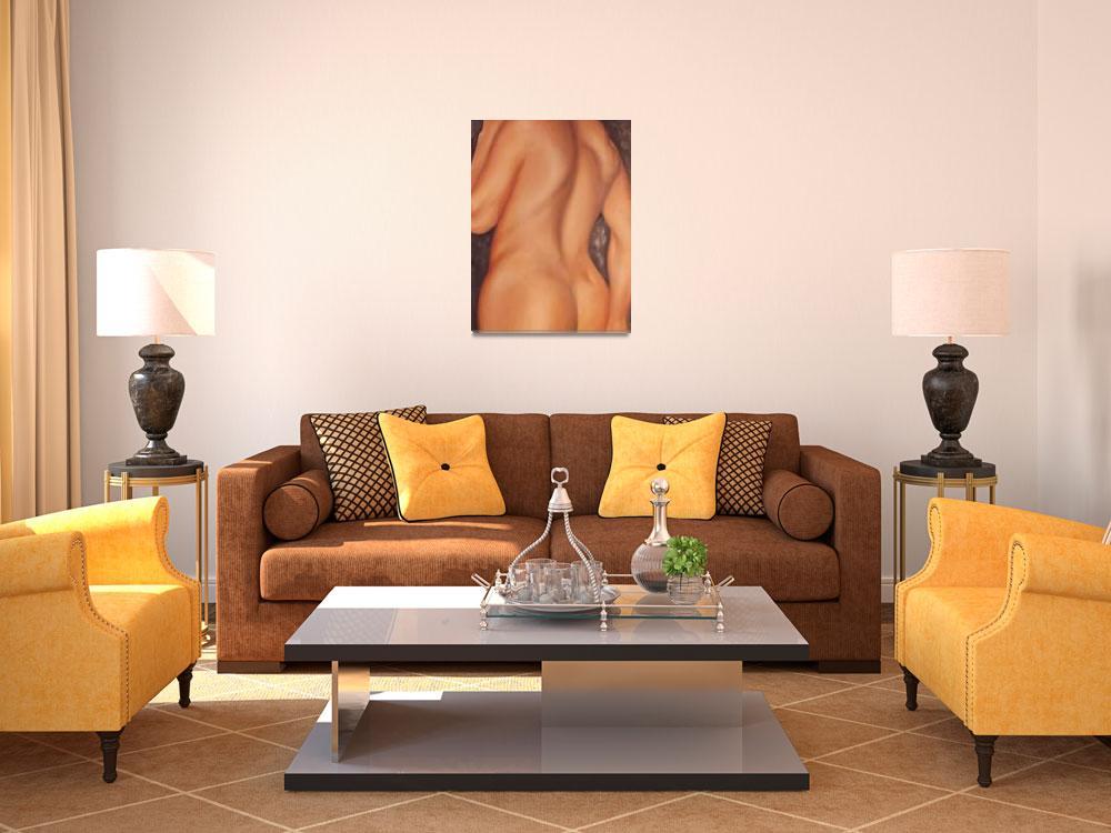 """Nude Profile Study""  (2004) by LueaFineArt"