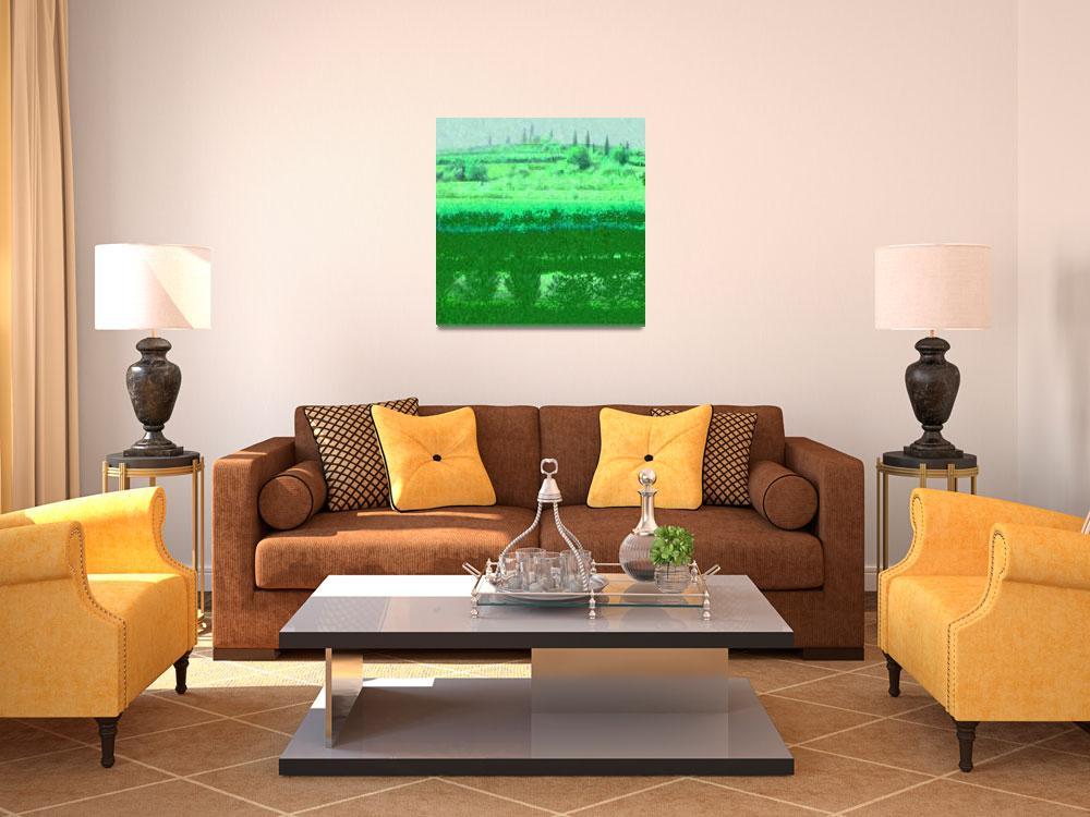 """Villa Giona olive terrace Green""  (2008) by LeslieTillmann"