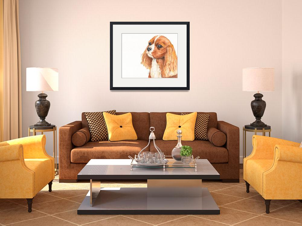 """""""Maddie the Affectionate Aristocrat Spaniel&quot  (2014) by Designomel"""