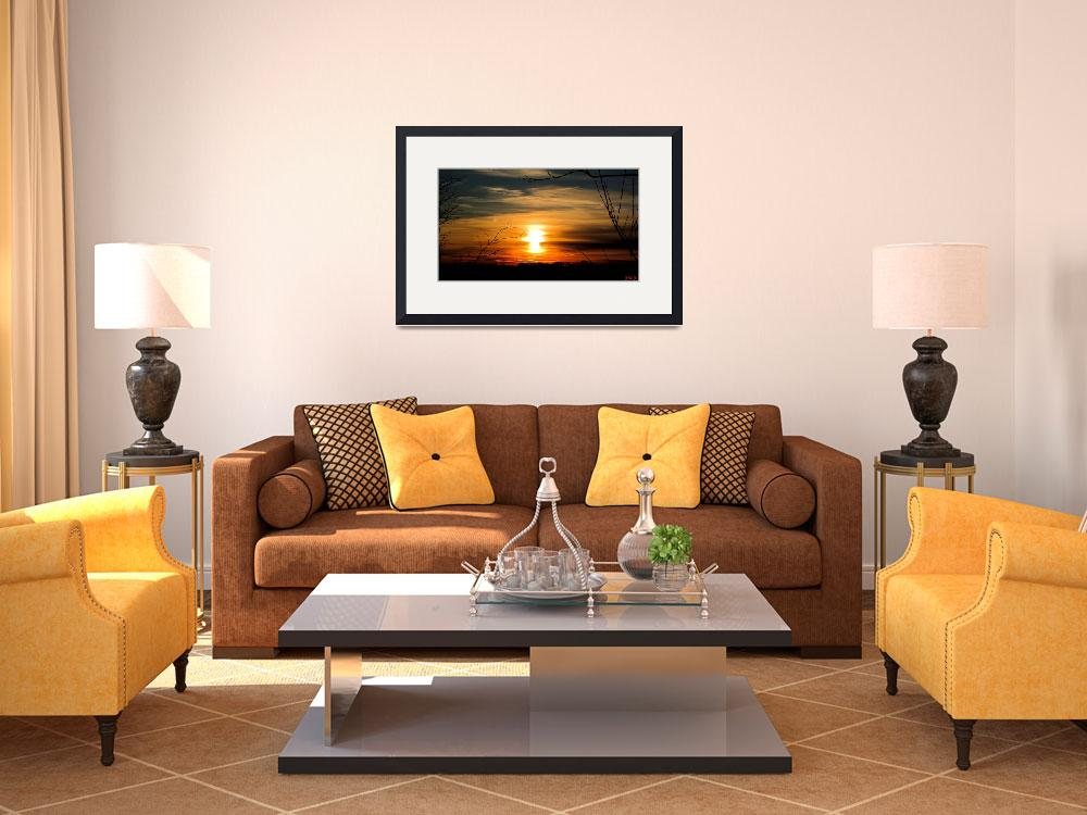 """""""Yellow Sunset&quot  (2011) by JimCrouchPics"""