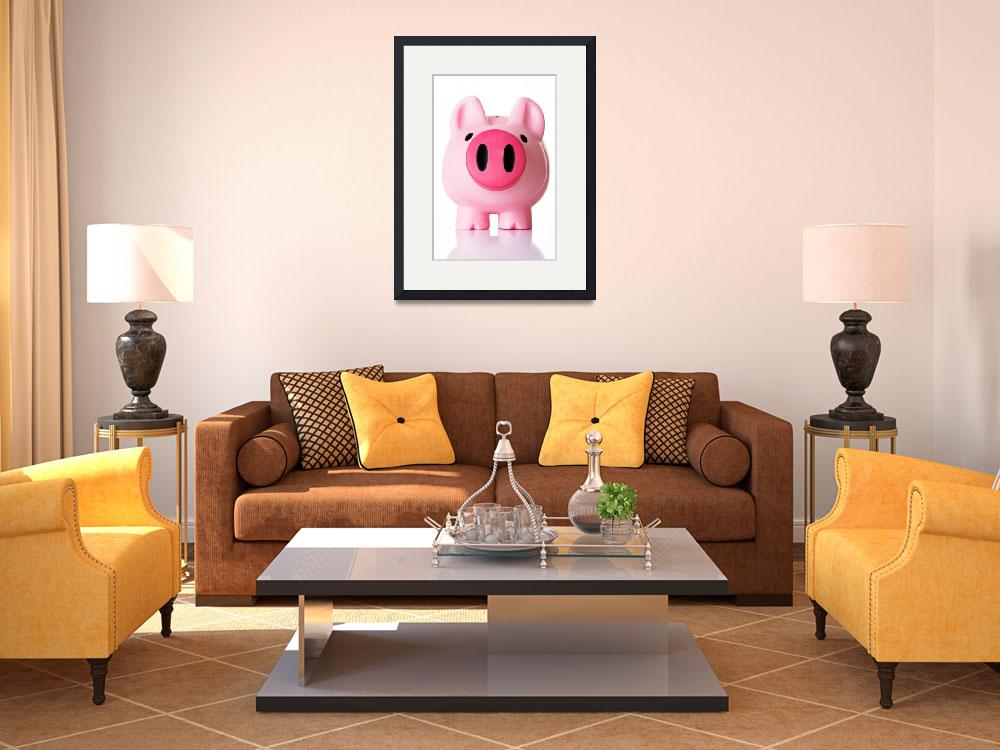 """""""Piggy bank. Isolated on white.&quot  by Piotr_Marcinski"""