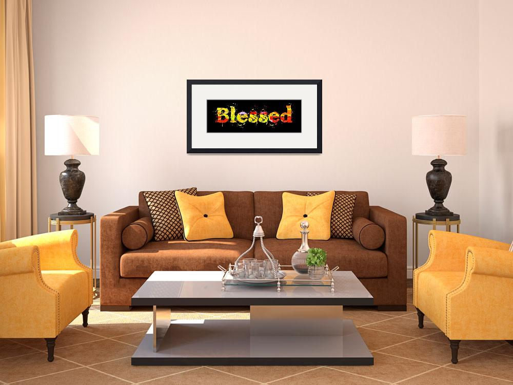 """""""blessed old print color block on black&quot  by lizmix"""