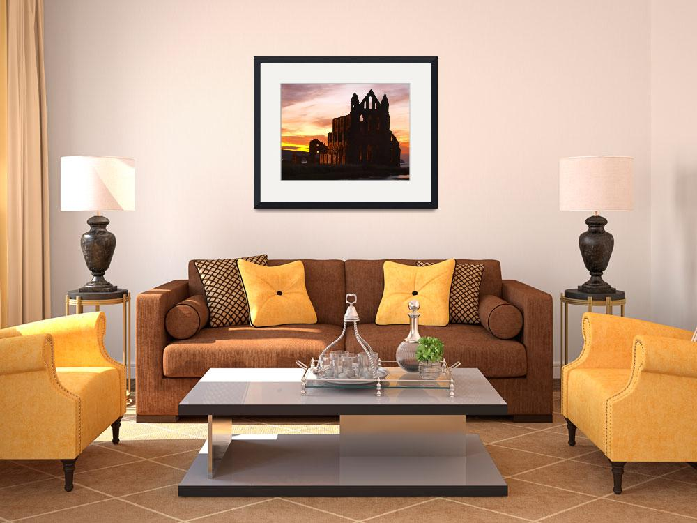 """""""Whitby Abbey , Sunset&quot  by turloughmor"""