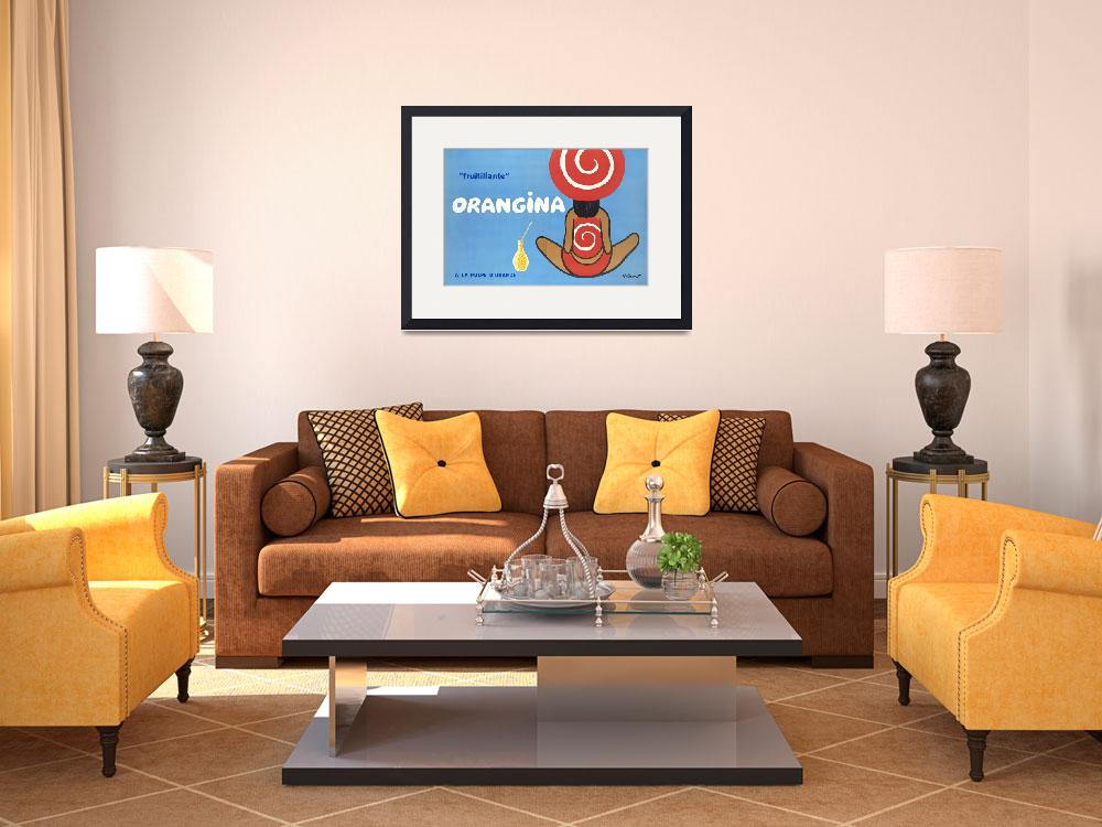 """""""Orangina Vintage Poster&quot  by FineArtClassics"""