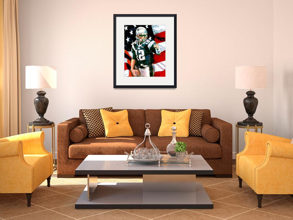 """NFL, Tom Brady, New England Patriots Art&quot  (2012) by artofvela"