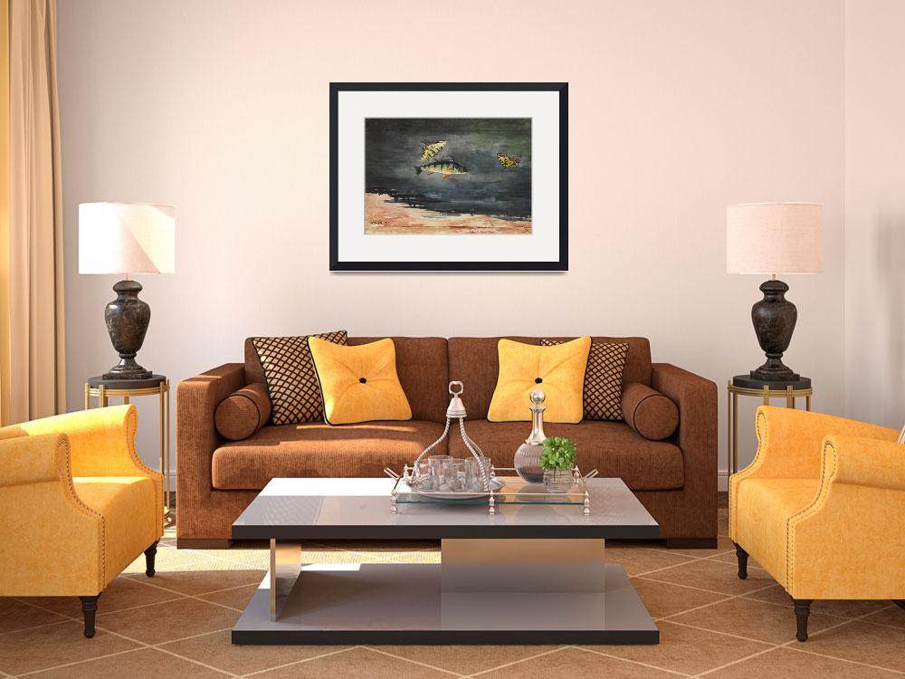 """""""Vintage Winslow Homer Fish & Butterfly Painting (1&quot  by Alleycatshirts"""