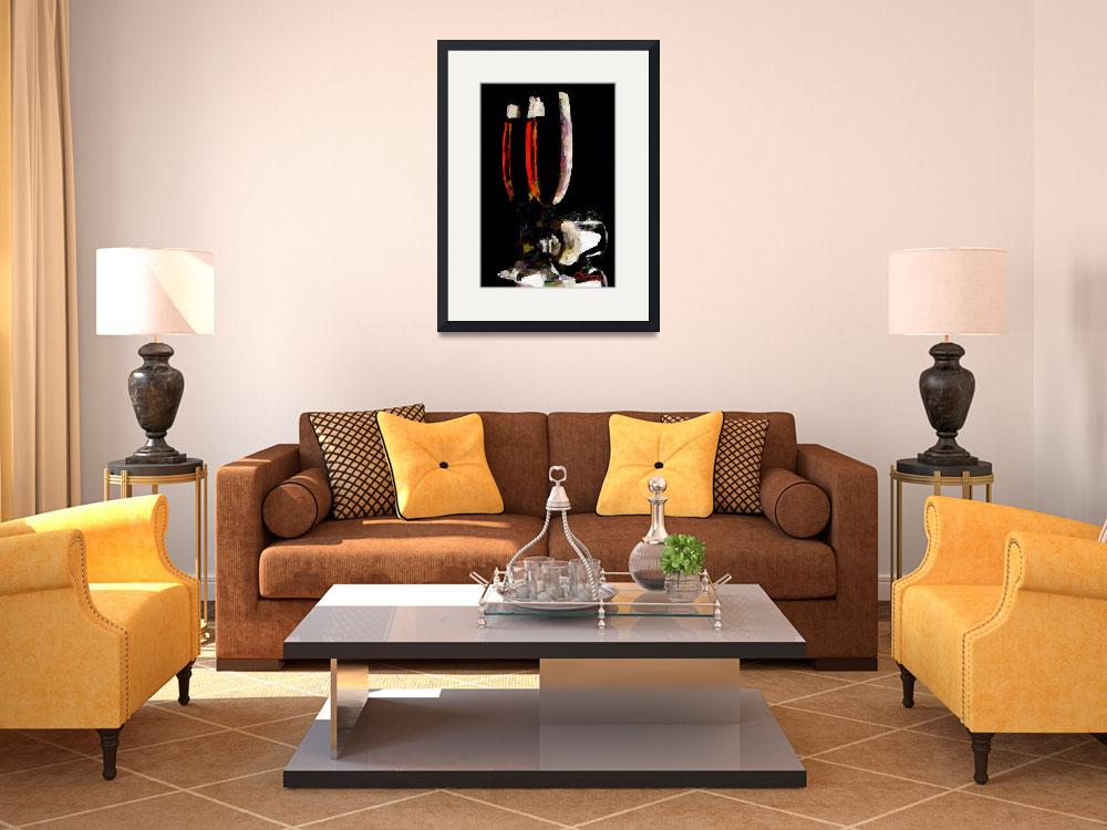 """""""Two glasses of red wine""""  (2012) by DiNovici"""