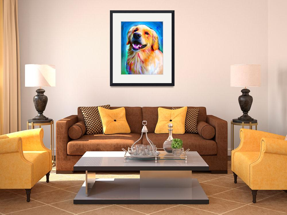 """Golden Retriever&quot  (2012) by LivePawsitively"