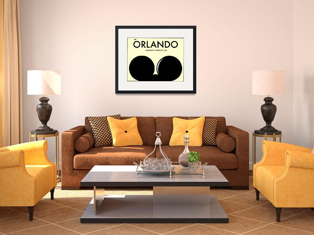 """Orlando Travel Poster&quot  (2009) by bradleyhuff"