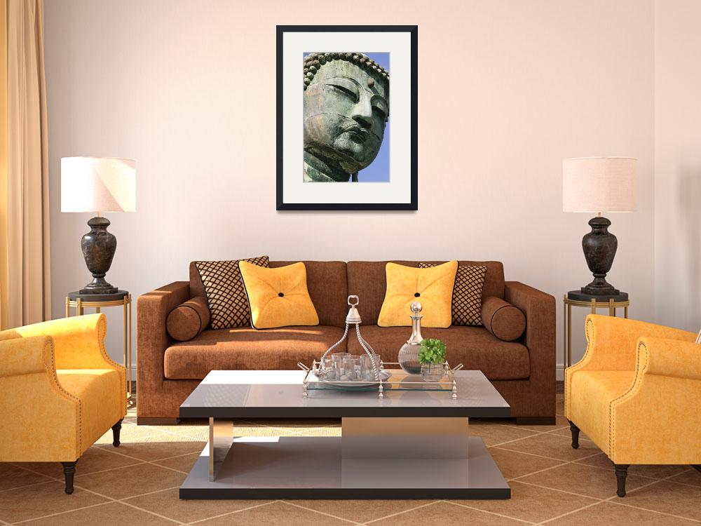 """""""Face Of The Daibutsu Or Great Buddha, Close Up&quot  by DesignPics"""