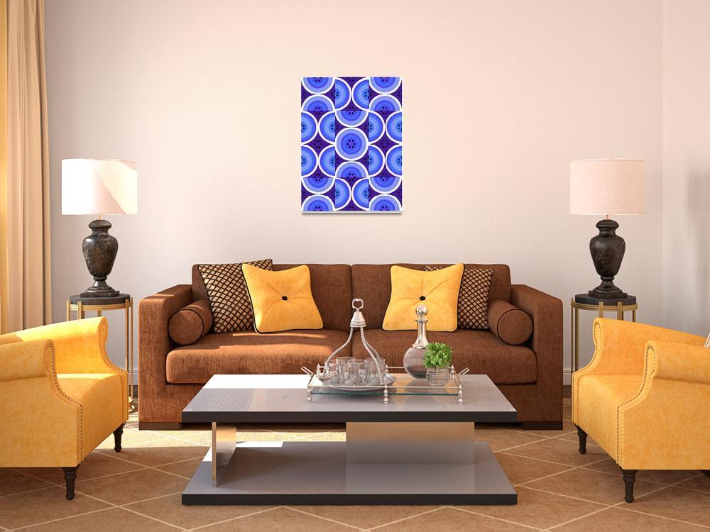 """Circles Blue Purple""  (2008) by LeslieTillmann"