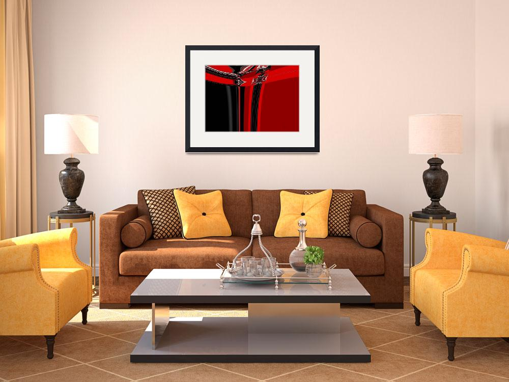 """""""19-red-black-modern&quot  (2008) by shanmaree"""