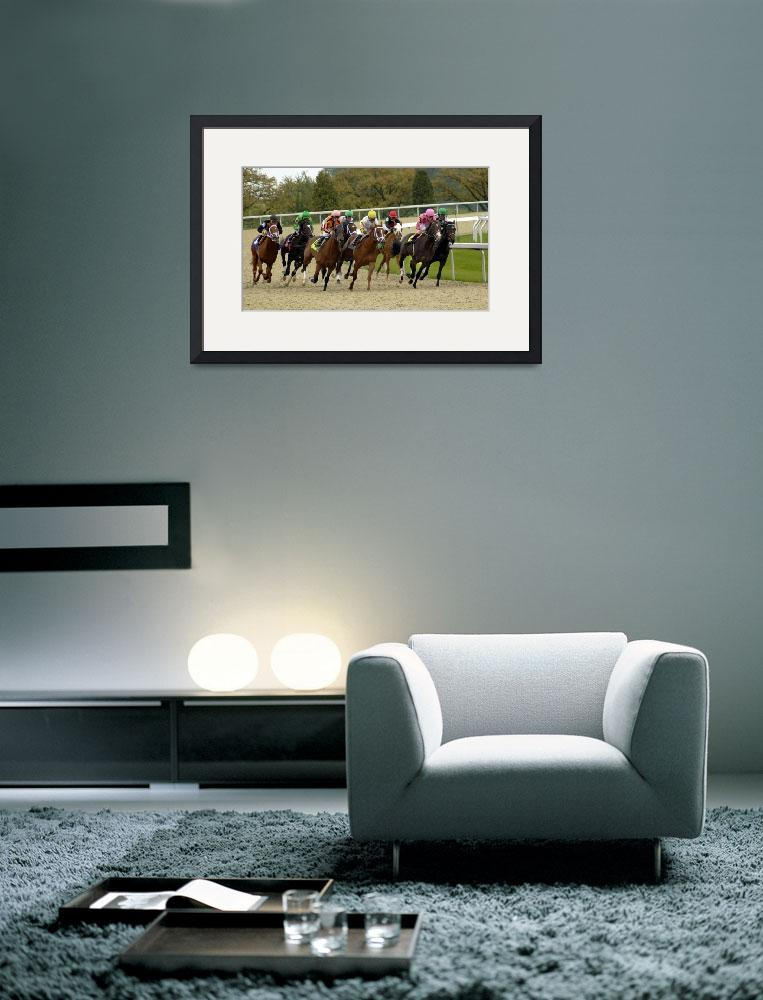 """""""Thoroughbred Horse Race 8383&quot  by CooperSlay"""