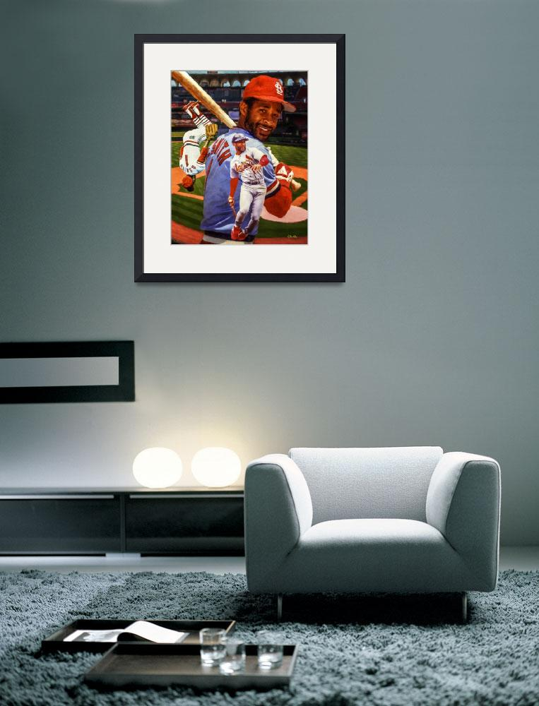 """""""Ozzie Smith St Louis Cardinals MLB Baseball Busch&quot  by Richimage"""