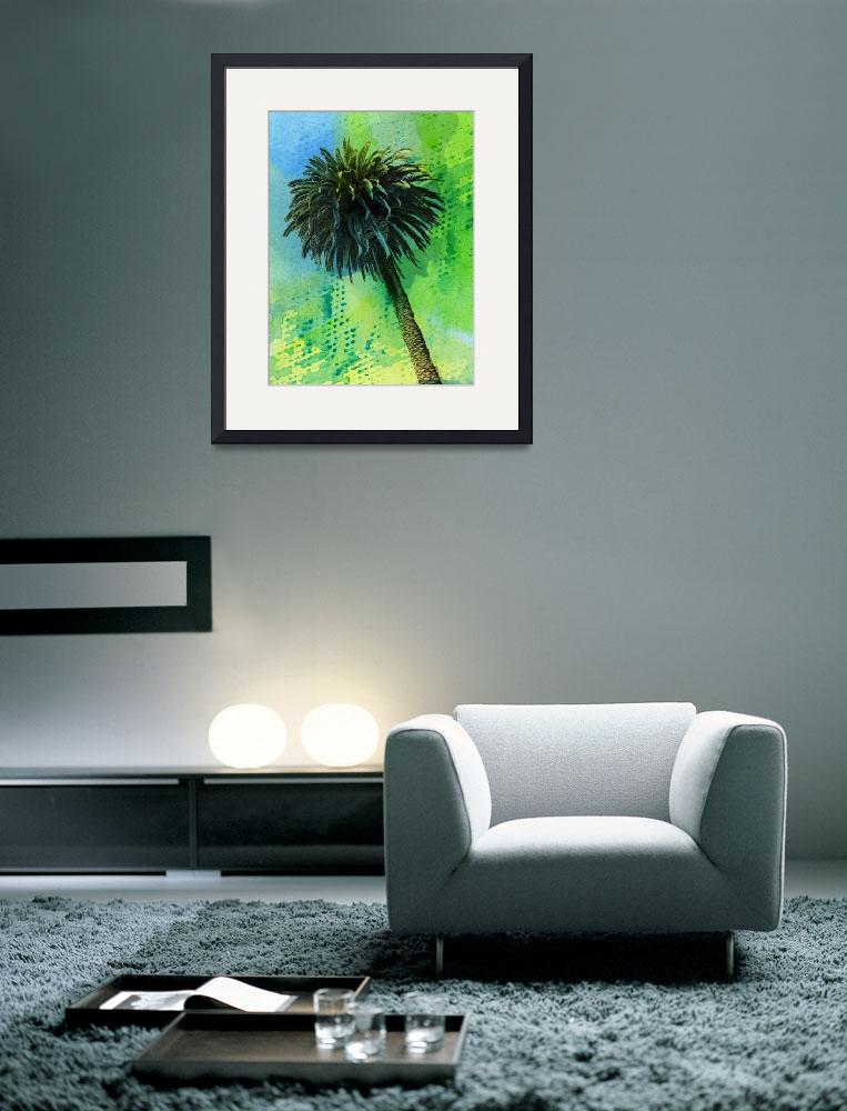 """""""ORL-2043-1 Palm tree tropical&quot  by Aneri"""