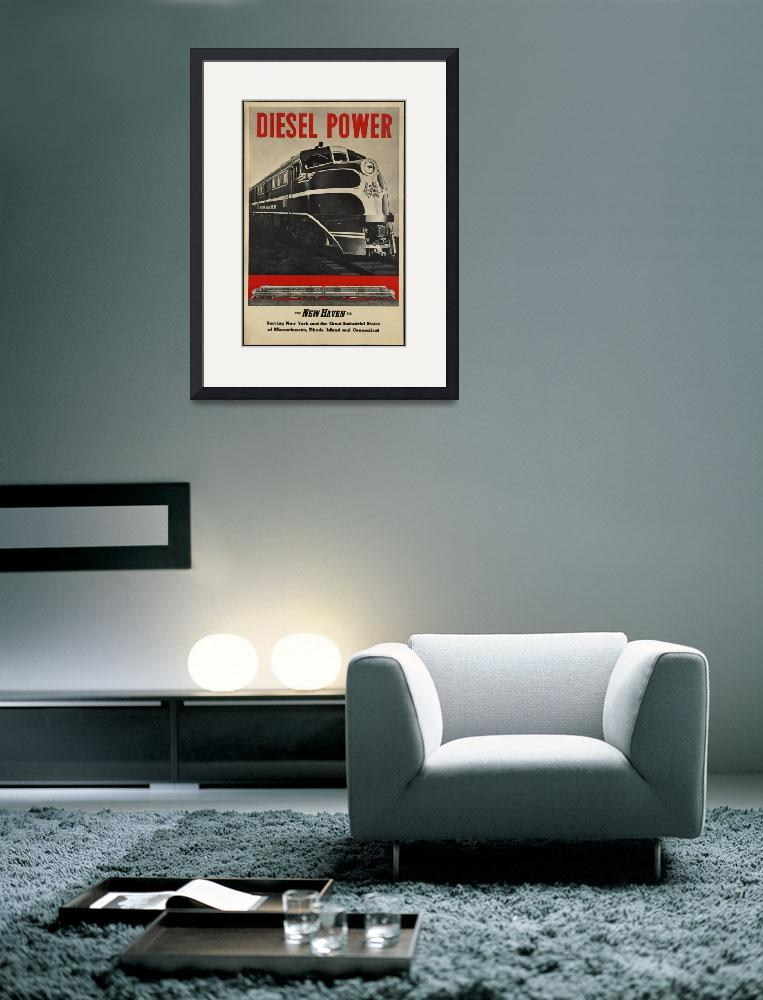 """""""Diesel Power Train Vintage Travel Poster Ad Retro&quot  (1913) by palaciodebellasartes"""