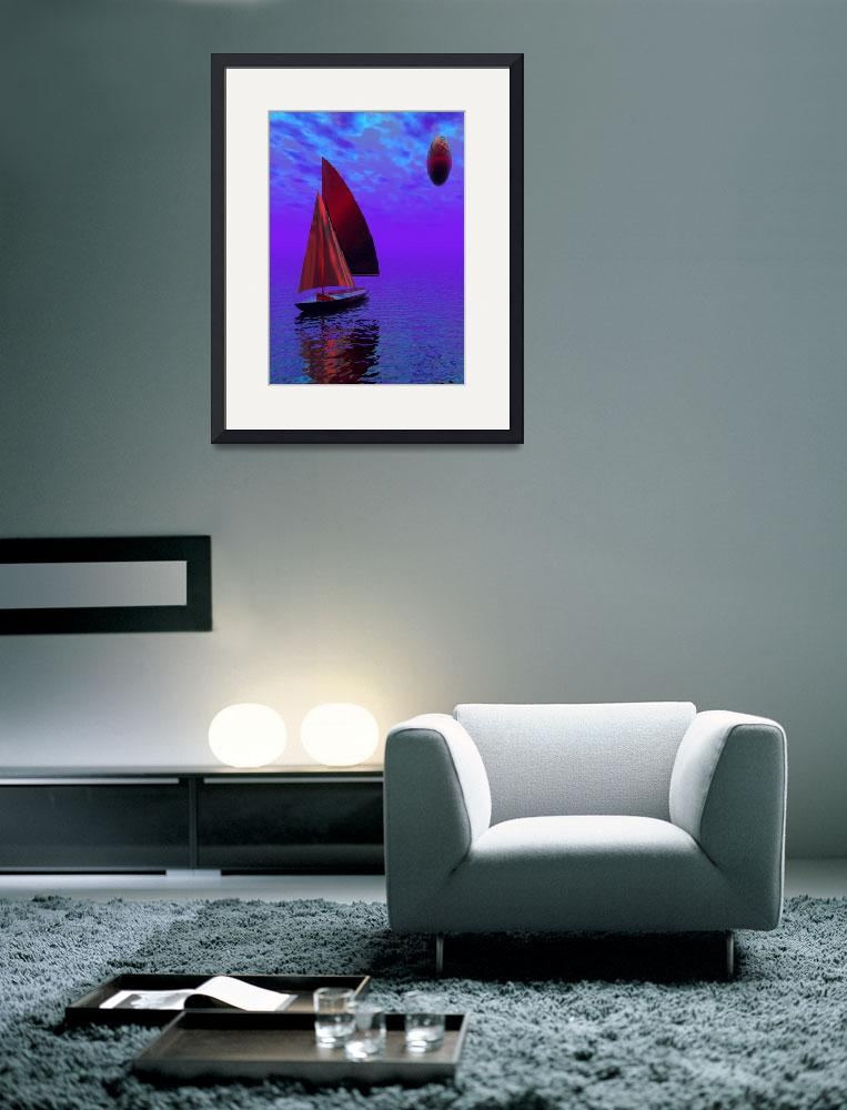 """Sailing Boat&quot  (2012) by Icarusismart"