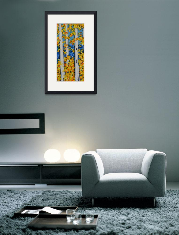 """Birch Tree series 15x30&quot  by dreesefineart"