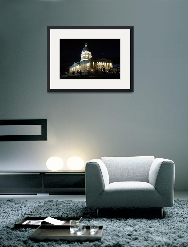 """""""Utah Capitol Building at Night&quot  (2010) by ultimateplaces"""