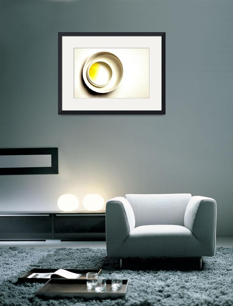 """Yellow Egg in White Bowls on White, Edit E&quot  (2011) by nawfalnur"