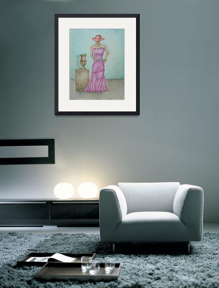 """""""lady in pink&quot  (2011) by thuraya"""