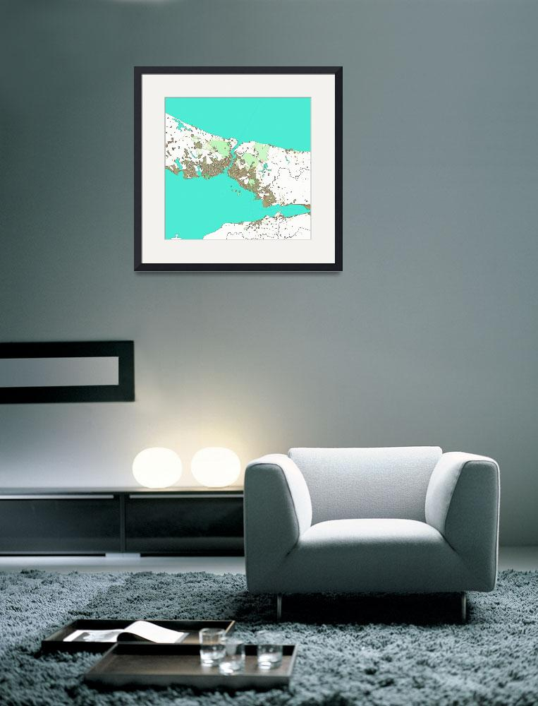 """""""Watercolor Istanbul Map&quot  by motionage"""