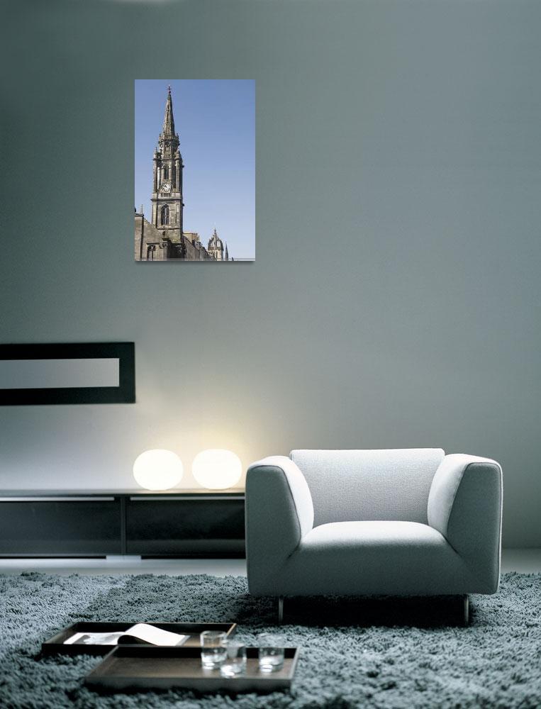 """United Kingdom, Scotland, Edinburgh, Buildings Alo""  by DesignPics"