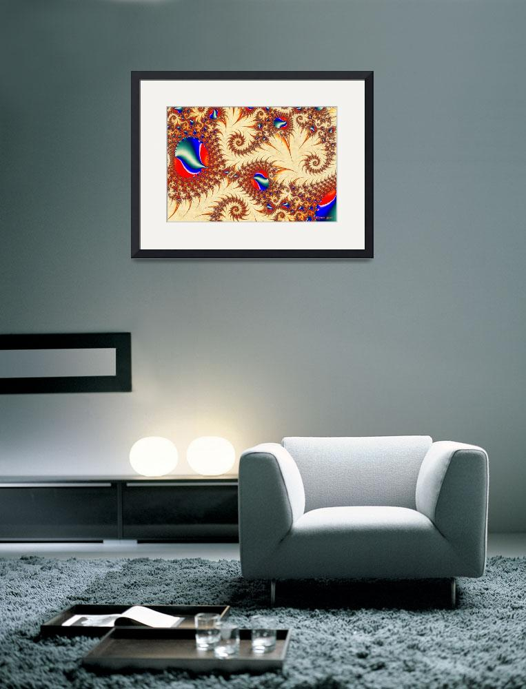 """""""Golden Trails Abstract Fractal Illustration&quot  (2012) by ReneeLozenGraphics"""