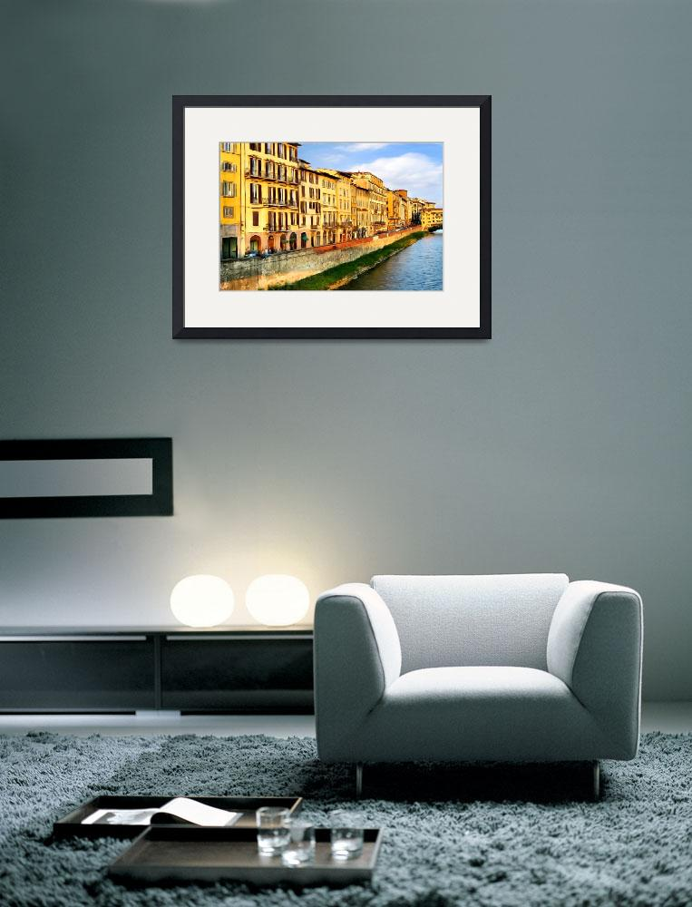 """""""Florence on the Arno I&quot  (2009) by knightvision"""