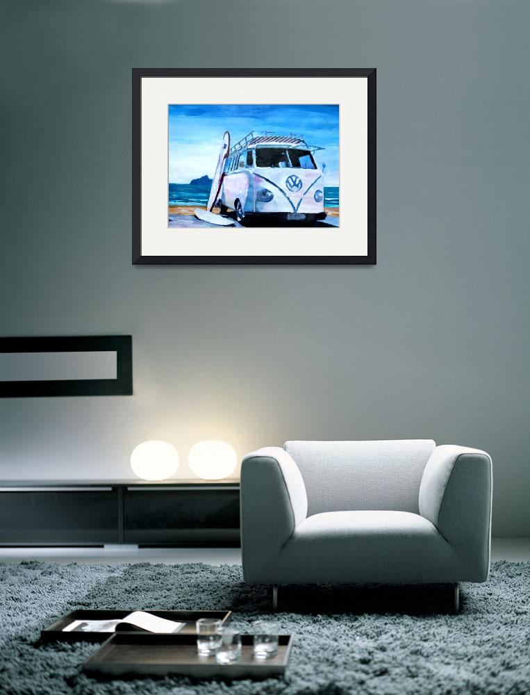 """Surf Bus Series - The White Bus&quot  (2012) by arthop77"