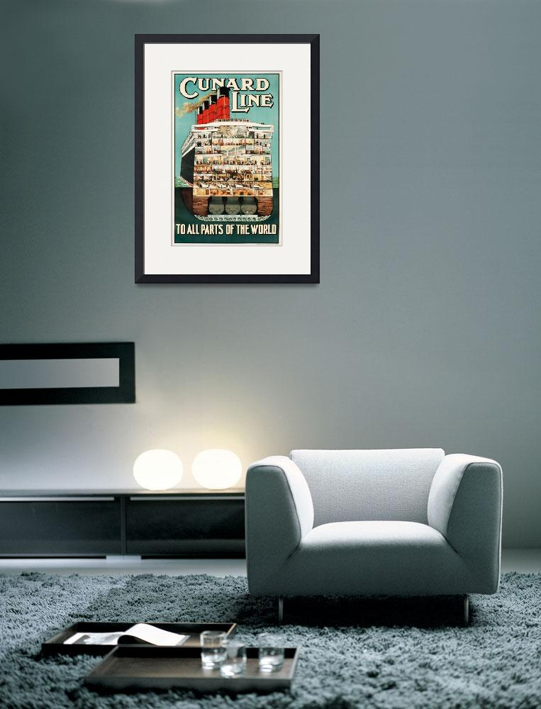 """Cunard Line Vintage Poster""  by FineArtClassics"