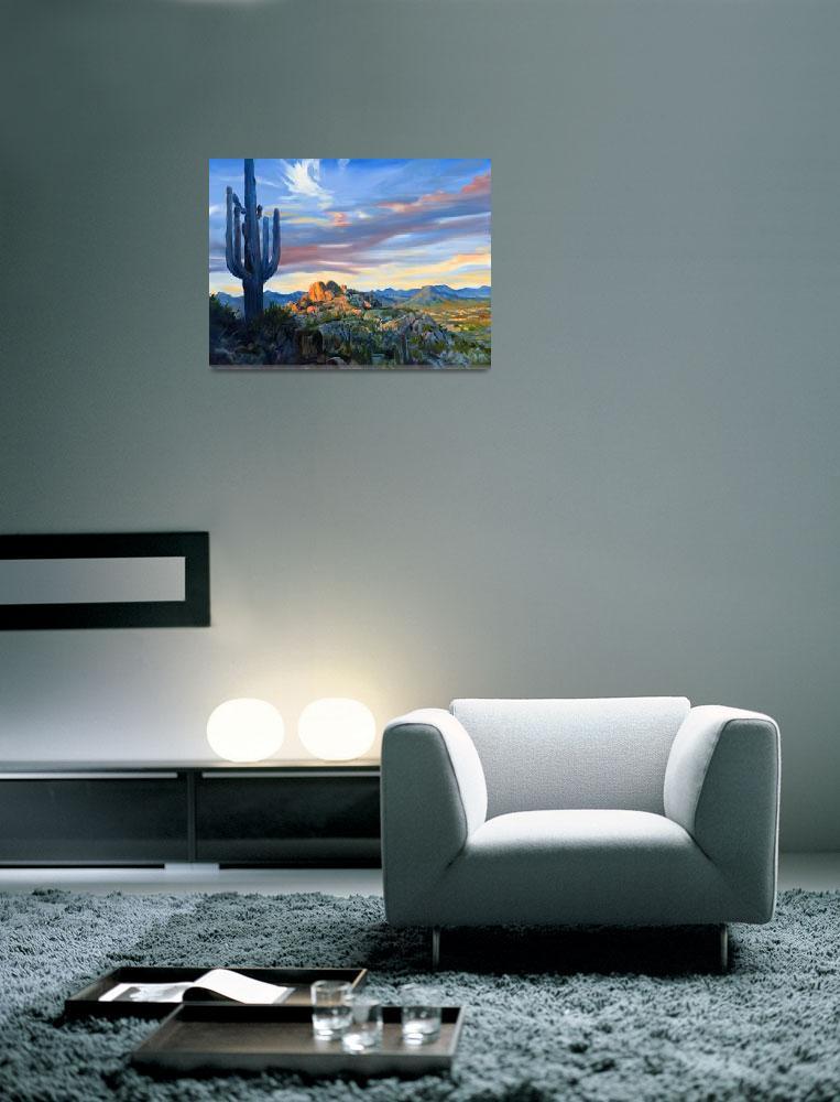 """""""View Of Scottsdale Arizona From Pinnacle Peak""""  (2008) by KeatingArt"""