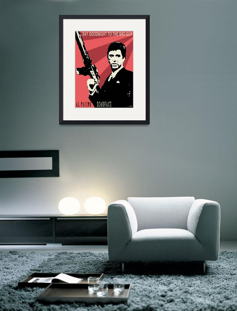 Scarface Poster  (2010) by Malpihvost  sc 1 st  Imagekind : scarface wall decal - www.pureclipart.com