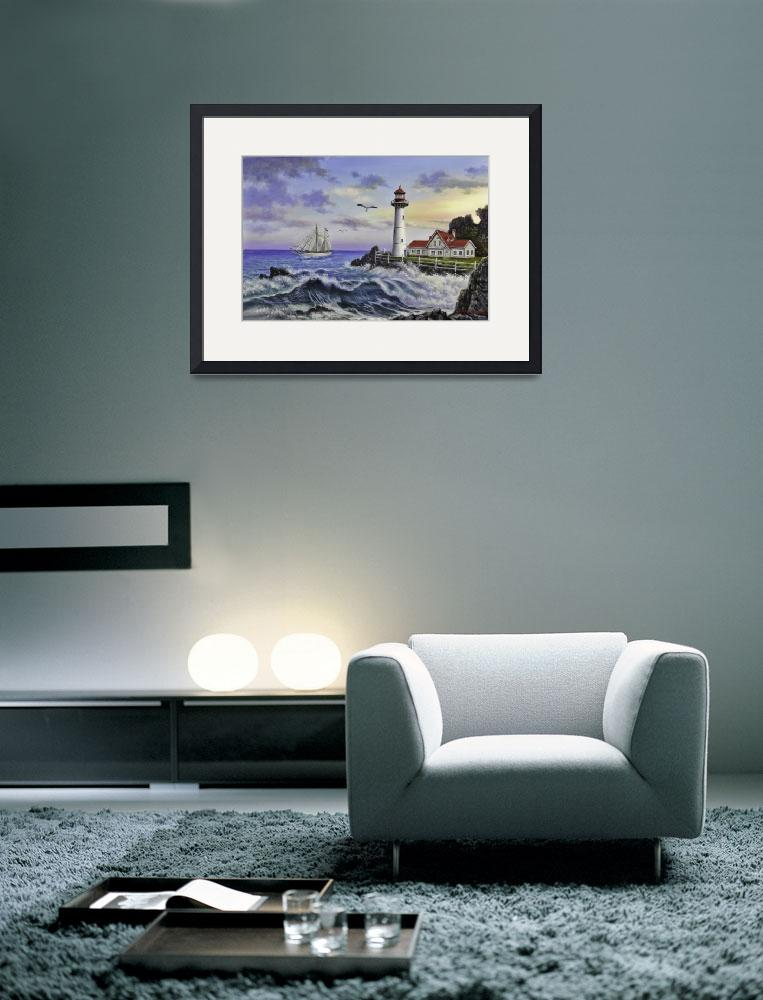 """""""Late afternoon light house""""  (2013) by charleskimfineart"""