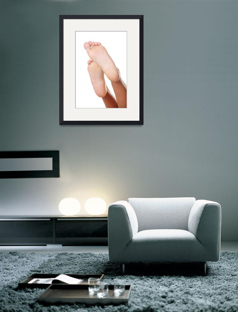"""""""Beautiful caucasian woman feet. Isolated over whit&quot  by Piotr_Marcinski"""