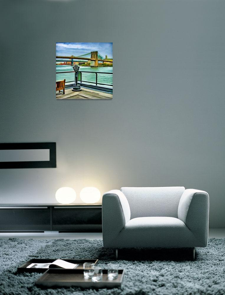 """""""East River & Brooklyn Bridge&quot  (2012) by New-Yorkled"""
